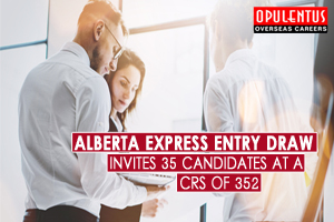 Alberta Express Entry Draw Invites 35 Candidates At a CRS of 352