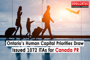 Ontario Human Capital Priorities Draw Issued 1072 ITAs for Canada PR