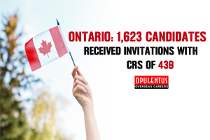 Ontario: 1,623 Candidates Received Invitations with a CRS of 439